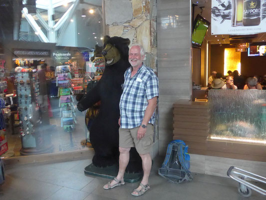 Da bin ich doch noch einem großen Bären ganz nah