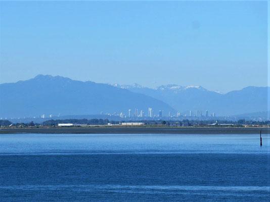 Blick zurück nach Vancouver