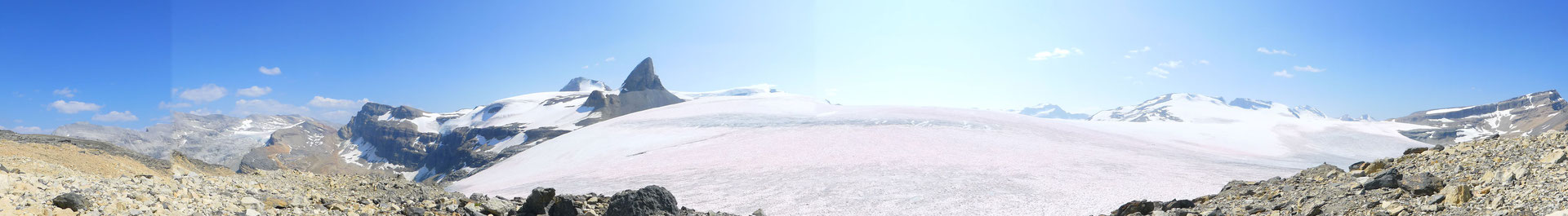 Wapta-Icefield-Panorama, der markante Berg ist der St.Nicholas Peak