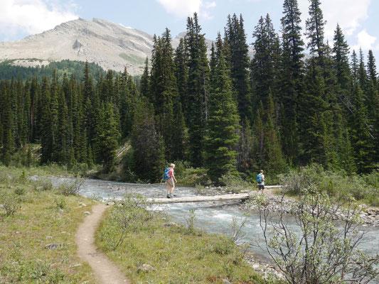 Start über den Nigel Creek