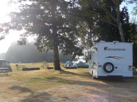 Campingplatz in Sooke am nächsten Morgen