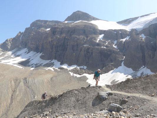 Blick zu den Gipfeln
