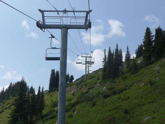 Die Gipfel-Seilbahn, vom Bus haben wir kein Foto