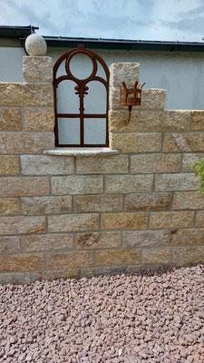 Natursteinmauer / Kreative Gartengestaltung