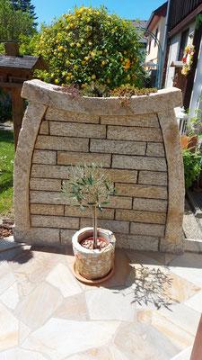 Sichtschutz aus Naturstein