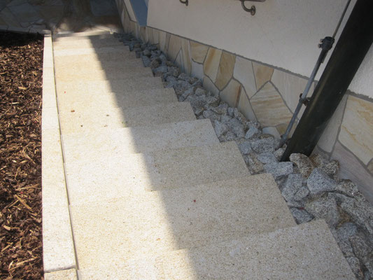 Steintreppenaufgang