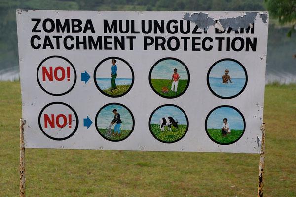 Klare Regeln gelten auch im Zomba Nature Reserve