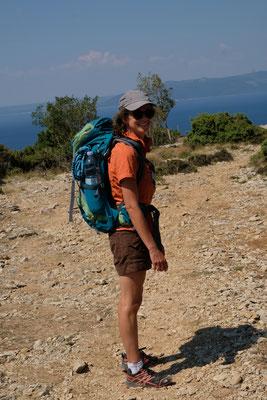 ..den man nur per Boot oder Wanderung erreichen kann (Supertourist Djamila on tour) ;)