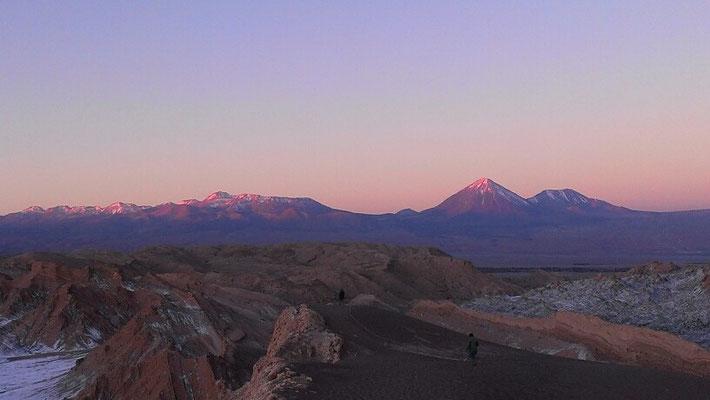 Sonnenuntergang im Valle de la Luna