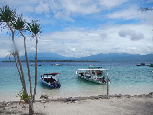 Ausblicke auf Gili Meno (Lombok)