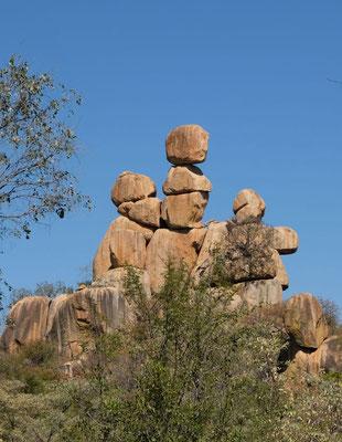 Mother an hild Rock im Matobo NP