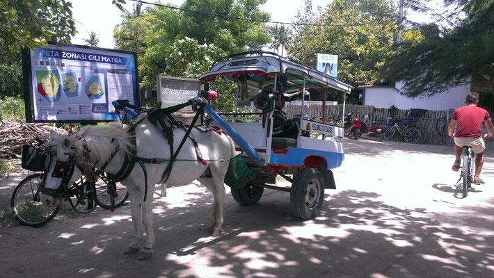 auch auf Gili Air sind motorisierte Fahrzeuge tabu