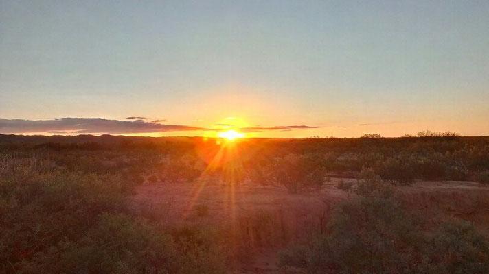 Sonnenuntergang in La Pampa