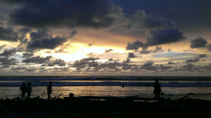 Sonnenuntergang auf Kuta/Bali