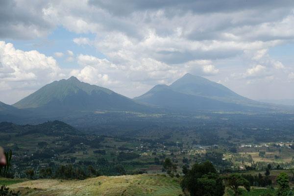 Die Aussicht am Vulkanrand