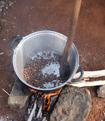 Kaffeetour an den Sipi Falls - selbst rösten...