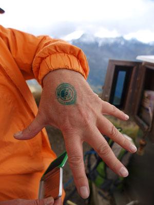 Gipfelglück: Stempel vom Figerhorn