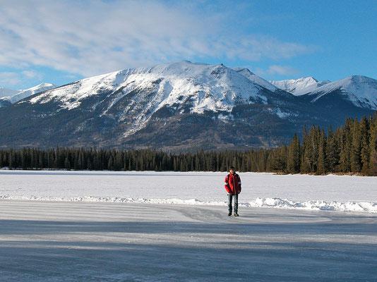 Jasper NP, zugefrorener See