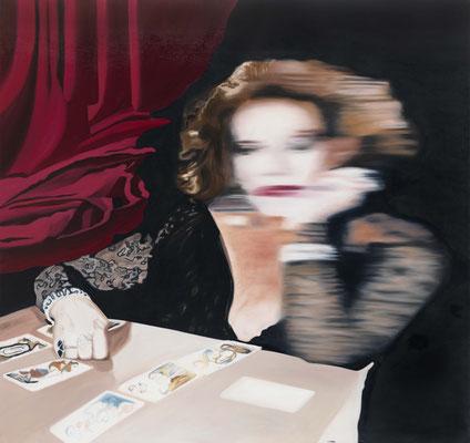 BURKHARD DRIEST  I  La magicienne  I  Öl auf Leinwand  I  170 x 180 cm