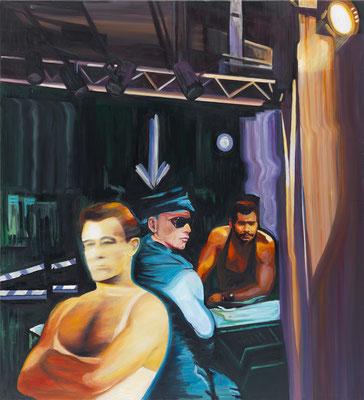 BURKHARD DRIEST  I  dead friends  I  Öl auf Leinwand  I  110 x 100 cm