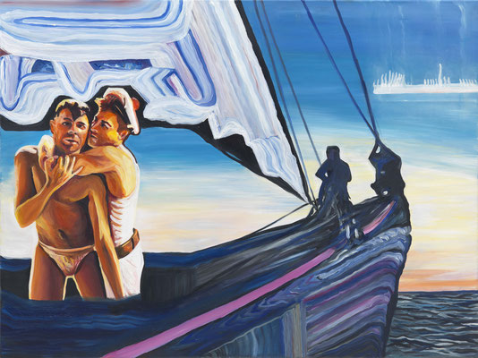 BURKHARD DRIEST  I  Lamour des mouettes  I  Öl auf Leinwand  I  70 x 100 cm