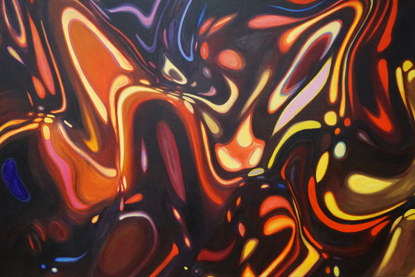 IVO LUCAS  I  Komposition I  I  Öl auf Leinwand  I  100 x 150 cm