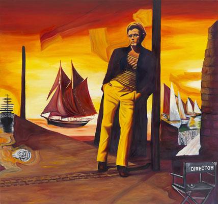 BURKHARD DRIEST  I  Le reve de Querelle  I  Öl auf Leinwand  I  140 x 150 cm
