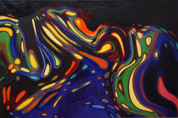 IVO LUCAS  I  Schlafender Drache  I  Öl auf Leinwand  I  100 x 150 cm