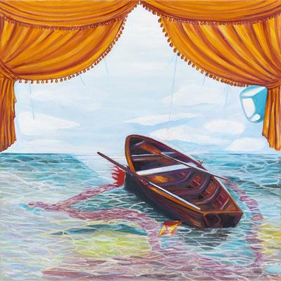 BURKHARD DRIEST  I  Le marin perdue  I  Öl auf Leinwand  I  100 x 100 cm