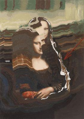 BURKHARD DRIEST  I  Remake Mona Lisa  I  Öl auf Leinwand  I  100 x70 cm