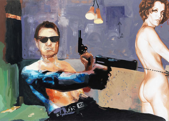 BURKHARD DRIEST  I  Talking about Scorcese  I  Öl auf Leinwand  I  115 x 160 cm