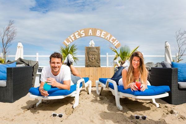 Sun Beach, Michael & Eline, Strand Blankenberge, tel: 0494/23.85.79