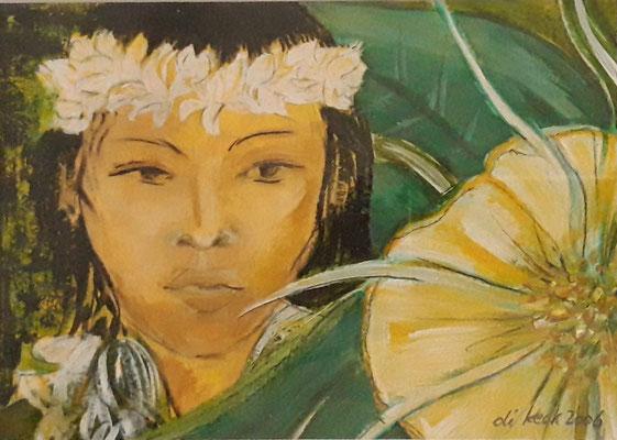 Laka hawaianische Göttin des Tanzes // 12 x 17cm ohne Rahmen // 100,00€