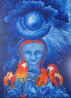 Mondfrau // 110 x 80cm // Acrylfarbe auf Leinwand // 1110,00€
