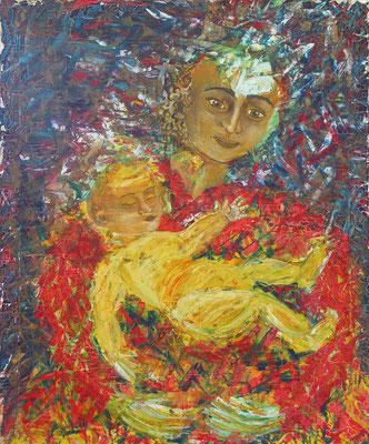 Maria, Mutter mit Kind // 92 x 73cm // Ölfarbe // 1250,00€
