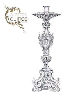 Candelero. Orfebre Alberto Quirós