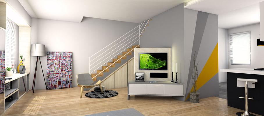 Arredare il soggiorno sfruttando un mobile sotto scala - Scala soggiorno ...