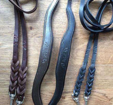Kopfstück Prestige, Leder: schwarz, Polster: terra; Kopfstück Prestige, Leder: schwarz, Polster: schwarz
