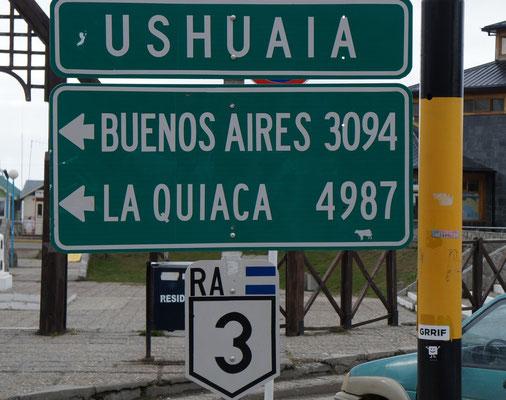 La route 3 de Buenos Aires à Ushuaîa ...