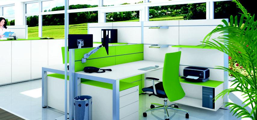 Frische Farben Büro