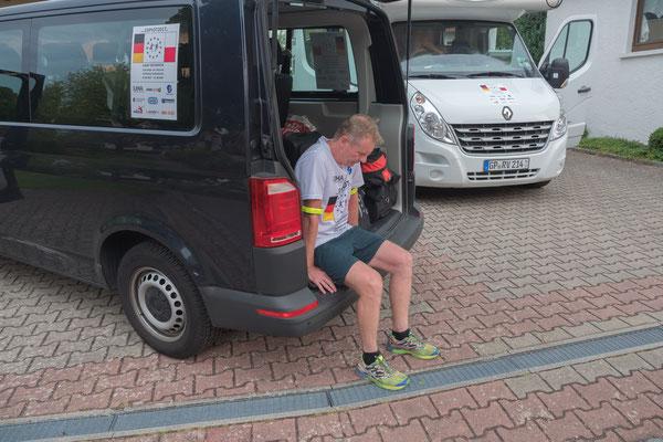 Max Pickl wartet auf den Beginn seiner nächsten Etappe