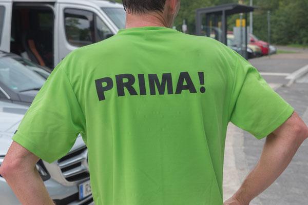 Mitglieder des LIMA-Laufteams haben die erste Etappe begleitet