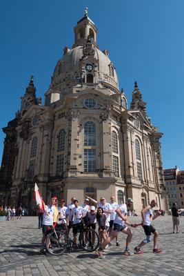 Frauenkirche Dresden: Hier trifft sich das gesamte ESPIOT-Team zur Übergabe