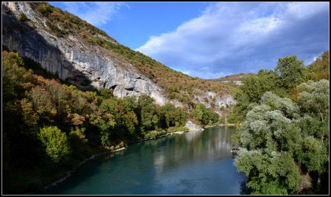 Die Rhône in La Balme