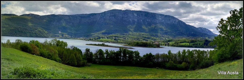 lac d'Aiguebelette, à 20 mn de la Villa Aosta