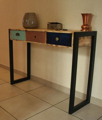 Console en bois de palette