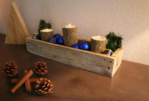 Centre de table en bois de palette