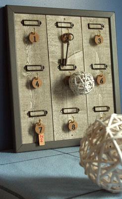 Tableau à clefs en bois de récup'