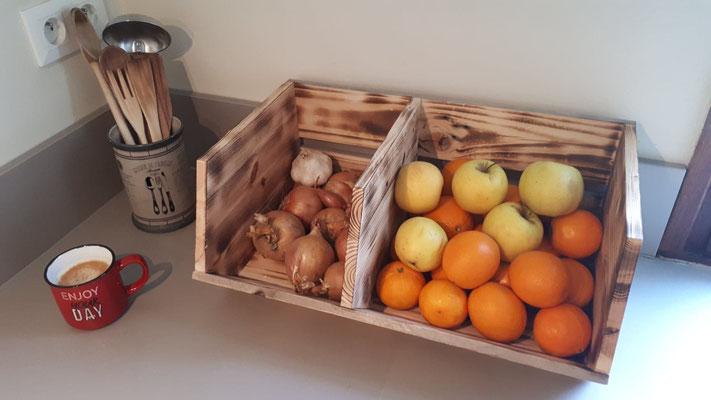 Bac à fruits et légumes en bois de récup'