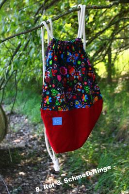 Rot Baumwolle & Schmetterlinge 100% Baumwolle